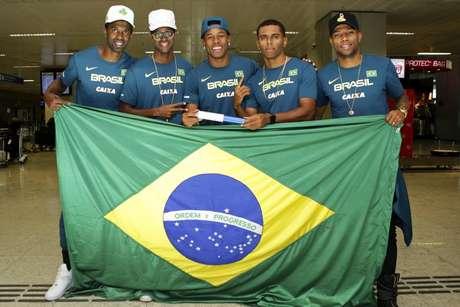 Quarteto brasileiro foi 4º colocado em Doha, e garantiu vaga nos Jogos de Tóquio (Foto: Divulgação)