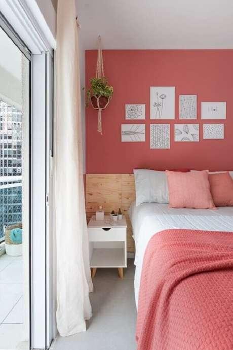16. Tons de rosa são muito usados na decoração de quartos bonitos femininos – Foto: Apartamento 203