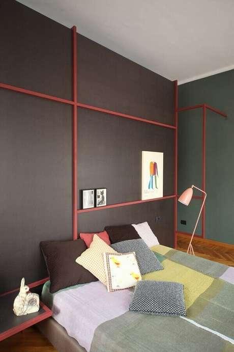 23. Decoração de quartos bonitos e modernos com detalhes coloridos – Foto: Archilovers