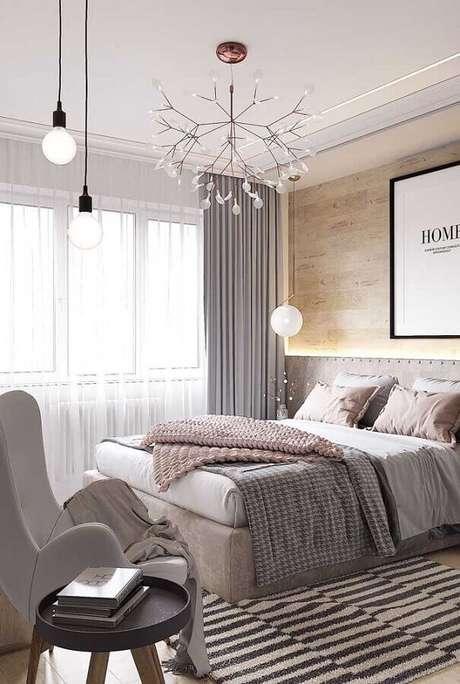 6. Um bom projeto de iluminação é essencial para quartos bonitos e acolhedores – Foto: Futurist Architecture