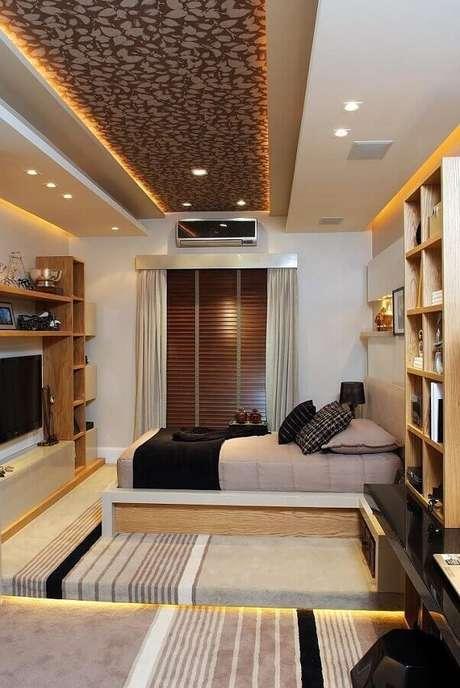 8. Móveis de madeira para decoração de quartos bonitos planejados – Foto: Futurist Architecture