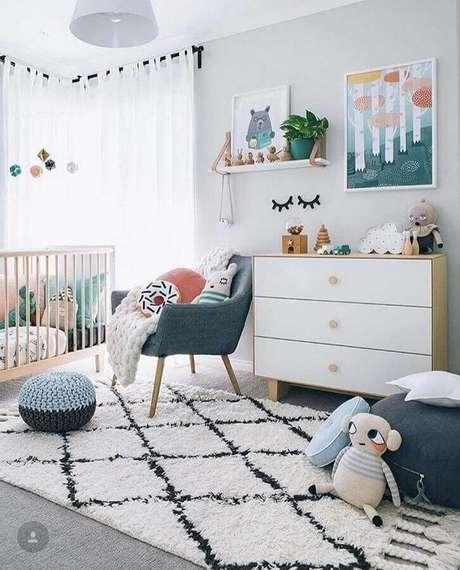 44. Invista em detalhes lúdicos para a decoração de quartos bonitos de bebê – Foto: Apartement Decor