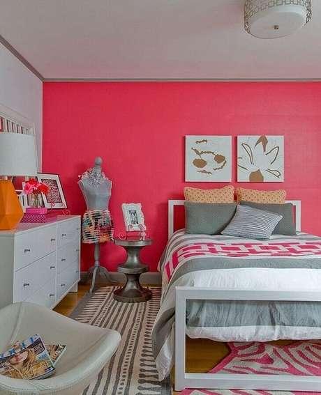 11. Tons de rosa são os mais usados na decoração de quartos femininos bonitos – Foto: Pinterest