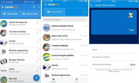 """Para emitir o Cartão de Débito Virtual, basta entrar no aplicativo CAIXA Tem, entrar na opção """"Cartão de débito virtual"""" e inserir a senha do aplicativo."""