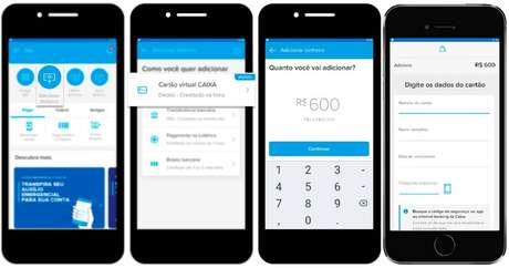 """Para transferir o valor do auxílio emergencial para o Mercado Pago, basta entrar no aplicativo, escolher """"Adicionar dinheiro"""", selecionar a opção """"Cartão de débito virtual Caixa"""", inserir o valor que deseja transferir e preencher as informações do cartão."""