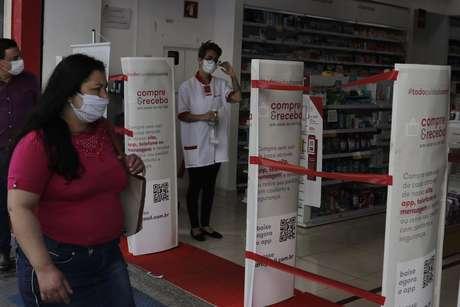 Após o anúncio da liberação de funcionamento em alguns setores da economia durante a quarentena, informada pela Prefeitura de Campinas, no interior de São Paulo, comerciantes comemoraram a decisão