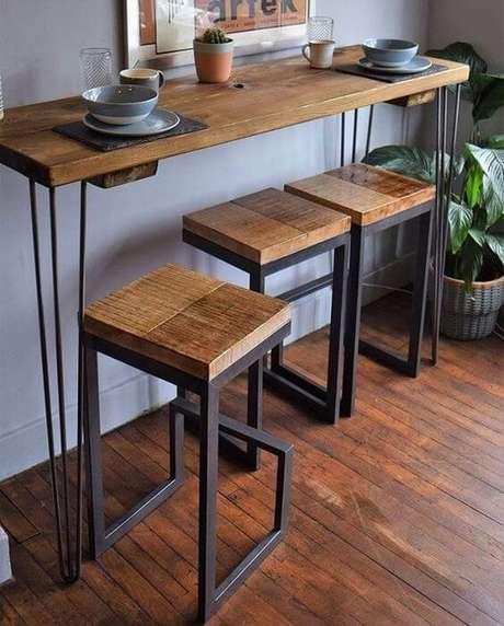 12. Aposte nos móveis de ferro para decorar sua casa moderna – Via: Pinterest