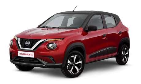Ideia de um Nissan subcompacto baseado no Renault Kwid: designer buscou inspiração no Juke, por isso o teto é preto e as rodas de três furos são cromadas.