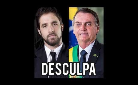 No Instagram, o humorista disse que os canais de TV se beneficiam de figuras polêmicas como Bolsonaro