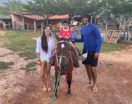 Volante passou a quarentena no interior com a família (Foto: Divulgação/AV Assessoria de Imprensa)