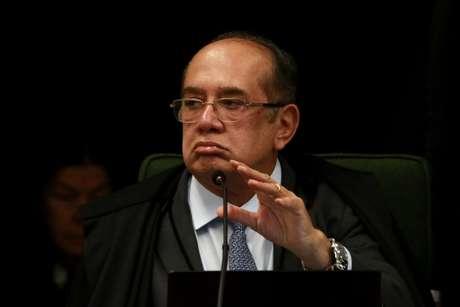 Ministro Gilmar Mendes durante julgamento