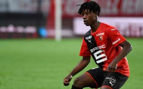 Camavinga foi um dos destaques da boa campanha do Rennes na Ligue 1 (Foto: JEAN-FRANCOIS MONIER / AFP)