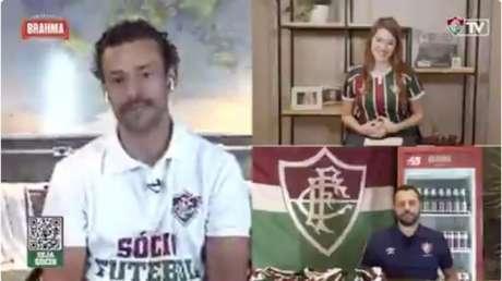 Fred em vídeo de reapresentação à torcida tricolor (Foto: Reprodução)