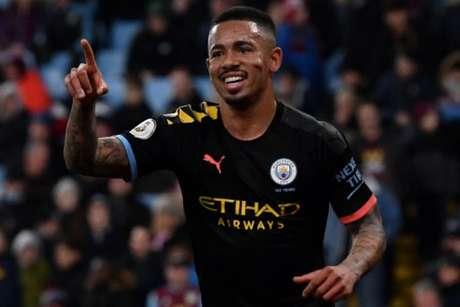 Gabriel Jesus em ação pelo Manchester City (Foto: PAUL ELLIS / AFP)