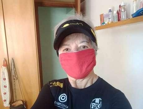Tereza Rostirola, de 71 anos, retomou a corrida, atividade que pratica há mais de 11 anos