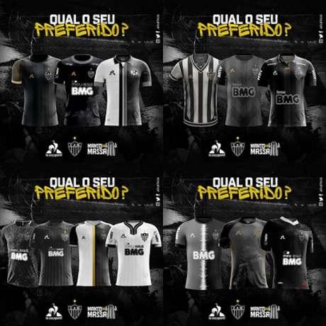 A enquete é para escolher quais modelos de camisa criados pelo torcedor serão produzidos pela fornecedora do Galo como material especial-(Divulgação)