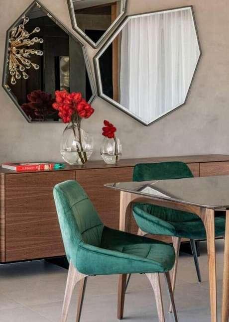 9. Tons de verde acrescentam um ar mais leve na decoração dos ambientes – Foto: Érica Salgueiro