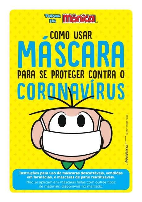 Turminha do Bairro do Limoeiro ensina como usar máscara de proteção corretamente durante pandemia