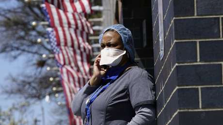A woman outside a hospital