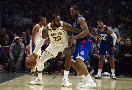 Partida entre Los Angeles Clippers e Los Angeles Lakers pela NBA 08/03/2020 Kirby Lee-USA TODAY Sports