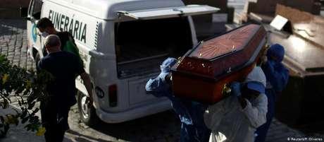 Brasil registrou recordes diários de mortes por covid-19 por dois dias consecutivos