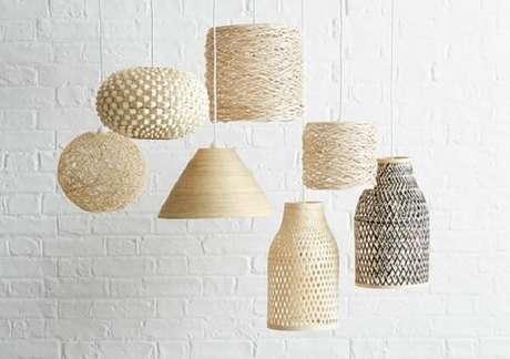 3. Detalhes na iluminação do ambiente que fazem toda a diferença na decoração tropical chique. Fonte: Pinterest