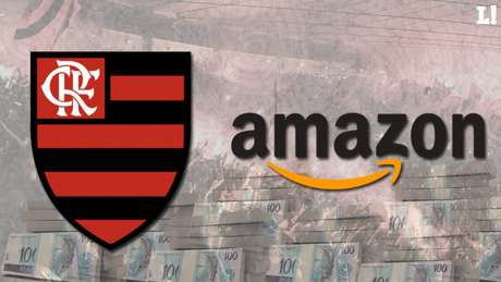 A possível parceria entre Flamengo e Amazon anima os torcedores rubro-negros (Foto: Arte/Lance!)