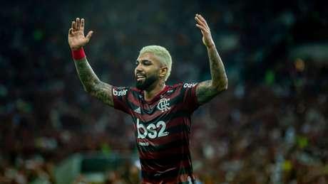 Gabigol foi um dos destaques da goleada na semifinal contra o Grêmio (Foto: Marcelo Cortes / Flamengo)