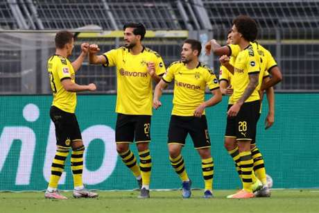 Dortmund venceu a partida com gol de Emre Can (Foto: Lars Baron/AFP)