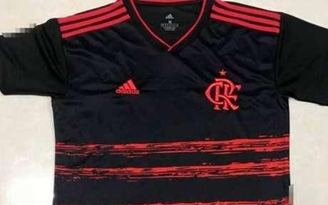 Camisa preta será a terceira de jogo do clube para a temporada 2020 (Foto: Reprodução / Coluna do Fla)
