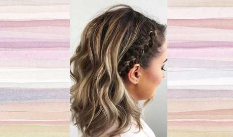 Faça uma trança na lateral da cabeça e deixa o cabelo solto para que o penteado ganhe mais estilo – Foto: Reprodução/Pinterest