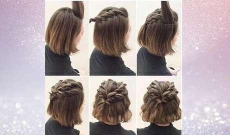 E, com imaginação e paciência, é possível transformar uma simples trança em um penteado ainda mais estiloso – Foto: Reprodução/Pinterest