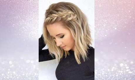 As tranças para cabelos curtos no topo da cabeça também são penteados lindos para qualquer ocasião – Foto: Reprodução/Pinterest