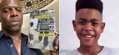 Terry Crews e João Pedro, menino baleado em operação policial no Rio