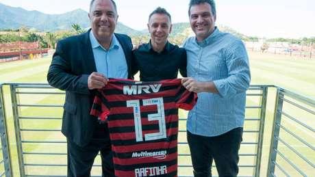 Nomes fortes do futebol, Marcos Braz e Bruno Spindel têm nova missão no Flamengo (Foto: Alexandre Vidal / CRF)