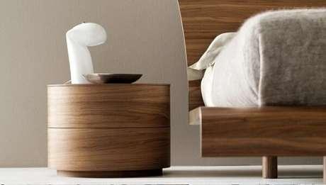 31. Criado mudo redondo com acabamento sofisticado. Fonte: Pinterest