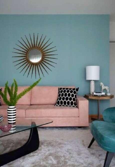 3. Não tenha medo de ousar na combinação de cores na decoração rosa pastel – Foto: Conexão Décor