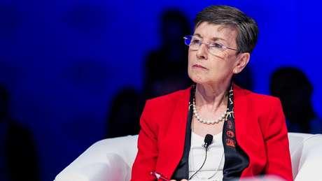 Delia Rubio em evento do Forum Economico Mundial