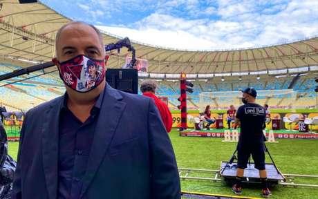 O vice-presidente de futebol Marcos Braz no Maracanã (Foto: Reprodução/Twitter)