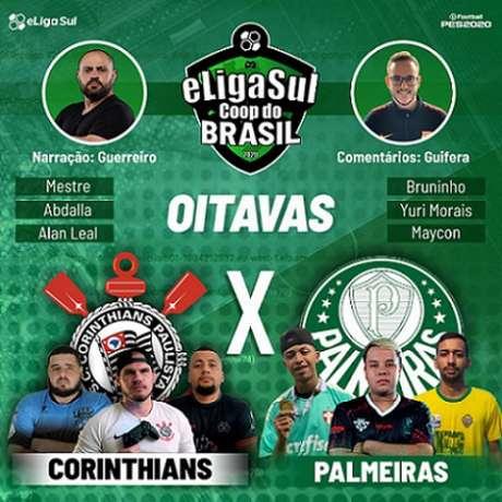 Clássico entre Corinthians e Palmeiras vale vaga nas quartas de final