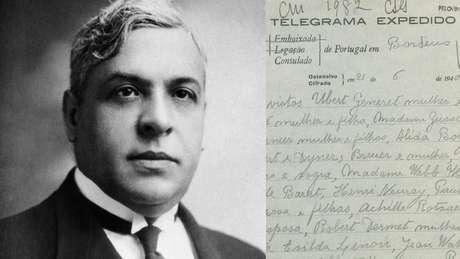 Aristides de Sousa Mendes e telegrama do ditador português Salazar