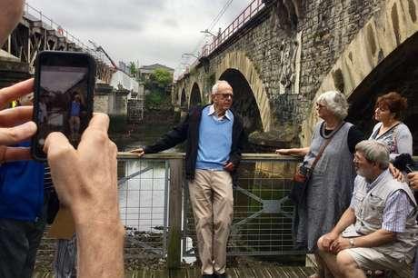 Henri Dyner voltou à 'ponte da liberdade' na fronteira franco-espanhola