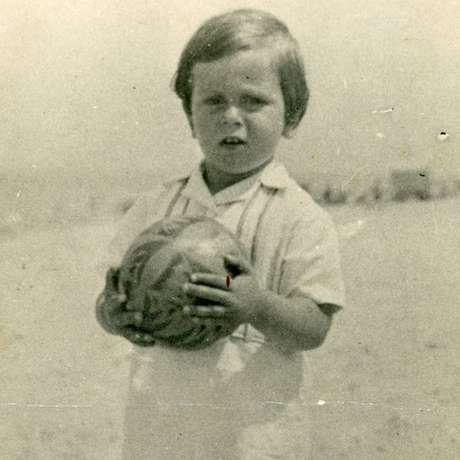 Henri Dyner antes de sua família fugir da Bélgica