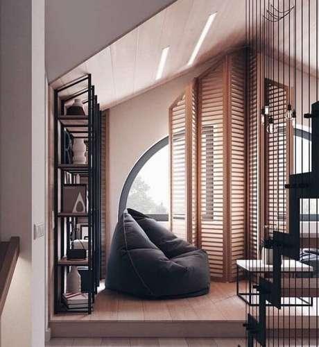 3. Puff Decorativos para quarto moderno – Via: Pinterest