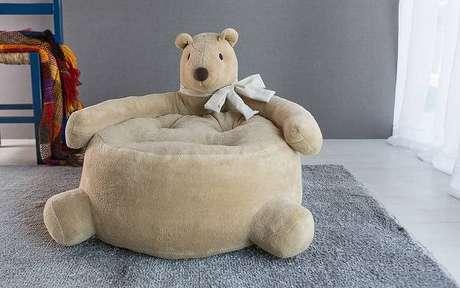4. Puffs grandes para quarto infantil – Via: Pinterest