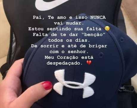 Homegagem de Nathalia Queiroz, filha do ex-assessor preso Fabrício Queiroz, em rede social
