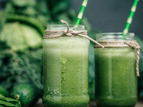 Suco verde cremoso