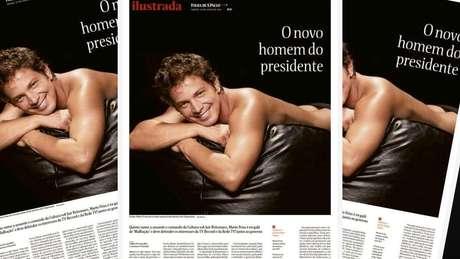 A foto de Mario Frias que gerou piadinhas e insultos faz parte de ensaio do ator para o extinto site Paparazzo, em 2006