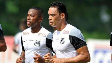 Robinho e Ricardo Oliveira têm portas abertas para retornar ao Peixe (Foto:Ivan Storti/Santos FC)