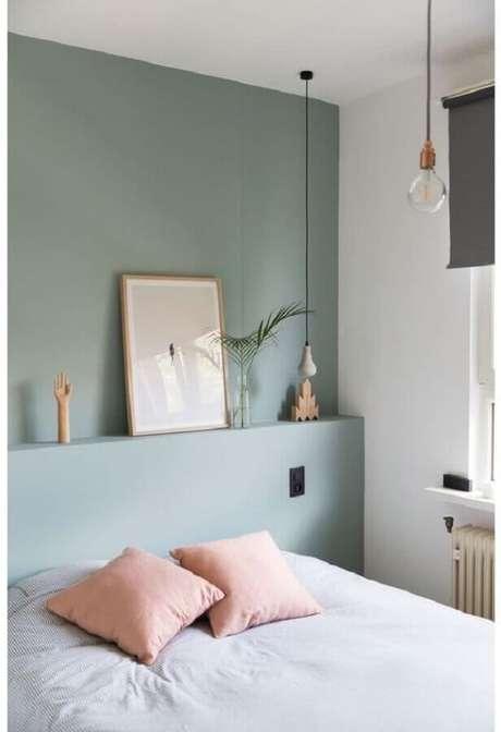 8. Decoração minimalista para quarto verde menta – Foto: Casa Très Chic